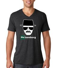 Breaking Bad Heisenberg TV show elements 80's vintage meth vee neck tee shirt!
