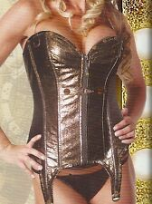 Living Dead Souls Steampunk Copper Corset Burlesque Cyber Goth Pinup Retro Glam