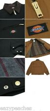 Dickies Mens S-2XL 3XL 4XL Blanket Lined Duck Work Chore Coat Jacket Brown Black