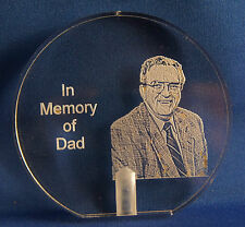 Grave marker Loved ones photo etched solar stake memorial keepsakeshipped free