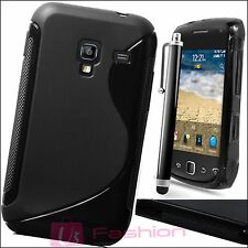 BLACK S-LINE SILICONE GRIP GEL CLIP ON CASE COVER SKIN FOR NEW MOBILE PHONES