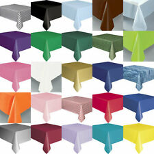 PLASTIC TABLECOVER TABLECLOTHS FROM ONLY 99P TABLECOVERS IN OVER 20 COLOURS