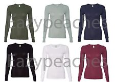 Alternative NEW Ladies Size S-XL Long Sleeve Thermal 50/50 T-Shirt Tee Apparel