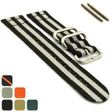 Mens Two-piece Military Nylon Watch Band Strap Divers 18mm 20mm 22mm 24mm - MM