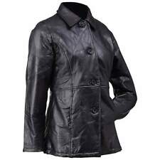 Giovanni Navarre Ladies Womens  Black Leather Motorcycle Jacket L LARGE XL GIFT