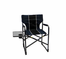 Folding Director's Chair w/ Table- Folds flat for easy transporting and storage