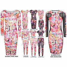 Plain Black Maxi Dress on Barbie Cartoon Graffiti Text Print Bodycon Stretch Midi Maxi Dress
