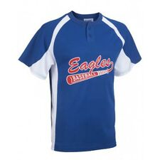 Line Drive 2 Button Baseball Jersey - Custom Decoration Available