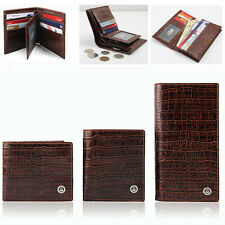 """Maxshop79 NEW Men cowhide Leather """"many Credit Card Space"""" Brown(W-034)"""