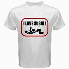 I Love Sushi Adult Funny oral SEX sexual JDM car decal style logo T-SHIRT V59