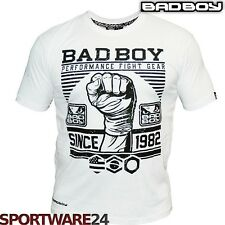Bad Boy Herren First Design T-Shirt  weiß S/M/L/XL/XXL MMA UFC Fight Gear