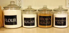 4 SQUARE PERSONALIZED KITCHEN CANISTER JAR LABELS VINYL DECALS