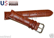 High Quality Light Brown Alligator  Genuine Leather Watch Band Strap 12mm~22mm
