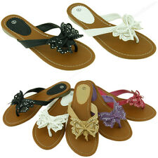 Womens Fashion Flip Flop Sandals Cute Butterfly Flower Thongs Flats Sandal Style