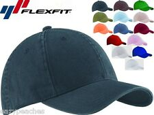 FLEXFIT 6997 Garment Washed Twill FITTED CAP Sport Hat Baseball S/M L/XL XL/2XL