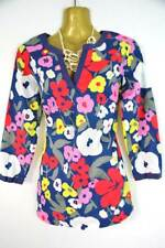 Boden crinkle cotton print top / tunic NEW 8 10 12 14 16 18 3/4 length sleeves