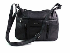 LADIES QUALITY GENUINE LEATHER OVER SHOULDER BAG HOBO MESSENGER HANDBAG HB990