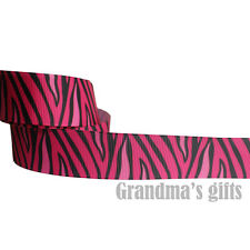 "1""25mm Zebra-Stripe Printed grosgrain ribbon 5/50/100 yards hairbow Wholesale"