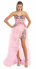 SALE ! SPECIAL OCCASION SEMI FORMAL DRESSES SEXY SHORT PROM GOWN 2 IN 1 HIGH LOW