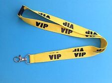 VIP Yellow Security Neck Lanyard PLUS Safety Clip