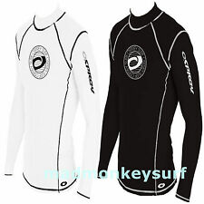 OSPREY MEN LONG SLEEVE RASH VEST RASH GUARD BLACK WHITE diving jetski bodyboard