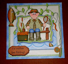 Handmade Greeting Card 3D All Occasion For The Fisherman