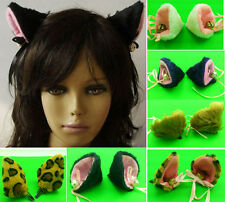 Sexy Anime Lolita Cosplay Fancy Nek Cat Ear With Bell Hair Clip XMAS Party Gift