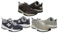 NEW BALANCE Men's Leather Athletic Shoes Blue, Brown & Grey, Extra Wide Width 4E