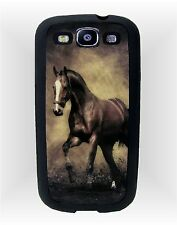 Samsung Galaxy S3 i9300 Cell Phone Rubber Case ~ Antique Tone Horse Image
