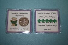 Unique LUCKY SIXPENCE Good Luck Gift St Patricks Day KISS ME IM IRISH Mum Dad