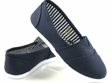 Youth Girls  Boys Solid Canvas Color SlipOn Flat Shoes, Sz: 10 11 12 13 1 2 3 4