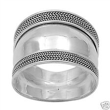 Bali Ring Sterling Silver 925 Balinese Style High Polish Without Stones Jewelry