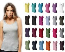 Bella Ladies 2x1 Rib Cotton Tank Top Shirt 4000 S-2XL Great Colors!! NEW