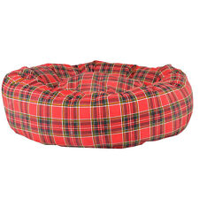 """Dog Bed, Donut Bed,Navy Blue Check ,38"""" Diameter, Extra Large"""