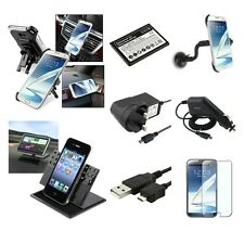 Mains/DC Charger/USB/Holder/Battery Accessory For Samsung Galaxy Note 2 N7100