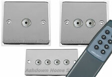 G&H Standard Plate Polished Chrome Remote & Touch Control Dimmer Light Switches