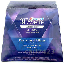 CREST3D PRO EFFECTS PROFESSIONAL TEETH WHITENING WHITESTRIPS 1,5,7,10,14,20