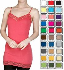 WHIMSY Long Layering Spaghetti Strap LACE CAMI TANK TOP Small/Medium/Large BASIC