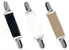DRESS CINCH CLIPS STRETCH - SET OF 3 - BLACK..WHITE..TAN w/ GOLD OR SILVER CLIPS