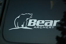 Bear Archery Vinyl Sticker Decal (V77) Bow Hunting Hunt Hunter Truck Car Window