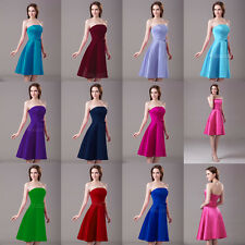 Short Bridesmaid Prom Dress Formal Pageant Dresses Party Evening Gown In Stock
