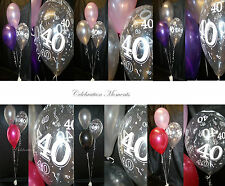 Happy 40th Birthday Party Helium Balloon Decoration DIY Clusters Kit - 5 tables