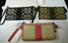 COACH SIGNATURE  STRIPE ZIPPY- SUGG. RETAIL $138- ASSTD. COLORS-JUST ARRIVED-NEW