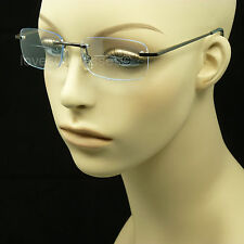 BIFOCAL READING GLASSES RIMLESS CLEAR COLOR ACCENT TINTED LENS MEN WOMEN NEW LM1