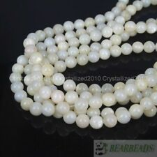 Natural White Mother Of Pearl MOP Shell Round Beads 16'' 4mm 6mm 8mm 10m 12mm