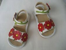 White with Red Flowers Squeaky Shoes/ Sandals 4,5,6,7,8