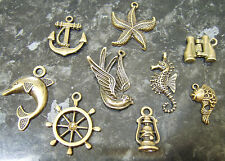 Antique Bronze Steampunk Nautical Pendant Charms - Various