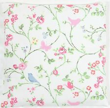 Clarke and Clarke Vintage Shabby Chic Bird Trail Chintz Cushion Cover