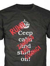 Fun T-Shirt für die Apocalypse : Ceep calm and study ....run Zombies! s-xxl