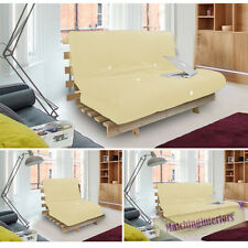 Stone Studio Futon Wooden Frame Sofa Bed Thick Sleeping Mattress Student Dig